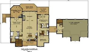How Many Square Feet Is A 1 Car Garage Open House Plan With 3 Car Garage Appalachia Mountain Ii