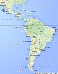 Latin America Map Labeled by Central And South America Map