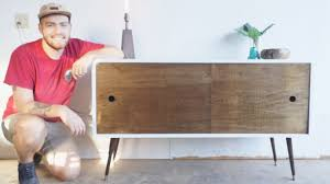 Century Modern Furniture Mid Century Modern Console Table Diy Modern Builds Ep 11