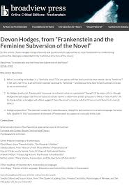 our popular edition of frankenstein just got better welcome to