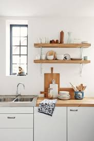 wood shelves kitchen kitchens design