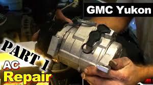 2003 gmc yukon ac compressor and accumulator part 1 ac compressor