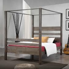 amazon com metro shop marion charcoal grey queen canopy bed
