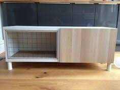 the successfful conversion of a cupboard into an indoor rabbit