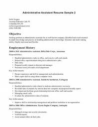 Sample Objectives In Resume For It by Sample Admin Assistant Resume Targeted At A Administrative