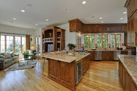 open floor plan kitchen and living room pictures country style