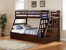 Amazoncom Acme  Jason TwinFull Bunk Bed With Storage - Ladder for bunk bed