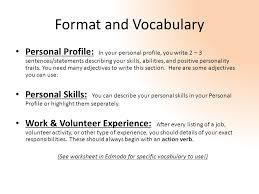 What Is Job Profile In Resume by Writing A C V Resume English 214 What Is A C V Or Resume