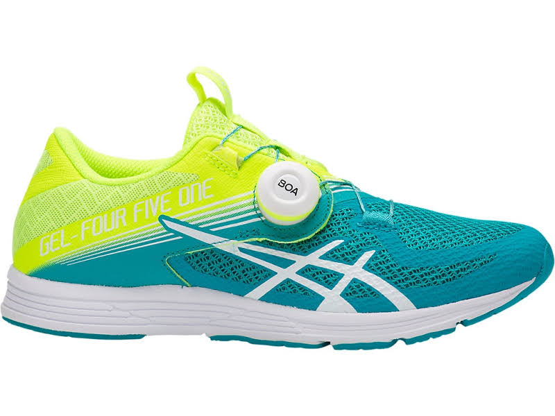 Asics Gel-451 Flash Yellow / Lagoon Ankle-High Running 8M