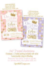 princess birthday invitations blush pink gold glitter