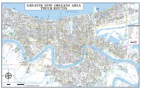 Map New Orleans French Quarter by New Orleans Truck Routes U2013 Stinson Map