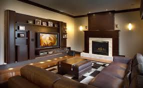 Plasma Wall Unit With Motorised Bracket Contemporary Family - Family room wall units