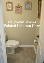 Painting Bathroom by Love This Chalk Paint And Stenciling On A Linoleum Bathroom