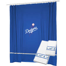 3pc mlb los angeles dodgers shower curtain and bath towels set