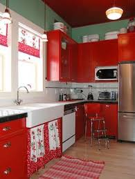 Retro Kitchens Retro Kitchens Red Accents Nook And Retro