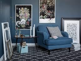 stocksund 3 sits soffa klädsel remvallen blå vit ljusa träben i