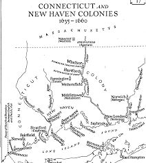 Map Of The New England Colonies by Hfa3038 Auto Bio Generated By Ancestral Quest