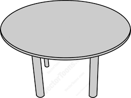 Round Wooden Table Top View Top View Of A Round Table