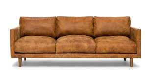 nirvana dakota tan sofa sofas article modern mid century