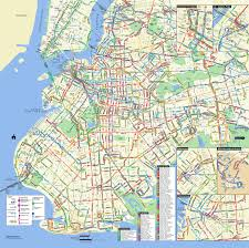 Map New York City by Large Detailed Brooklyn Bus Map Nyc New York City Brooklyn Large