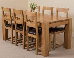 hermosa kensington dining table with 6 chairs with clear lacquer