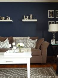 Brown And Yellow Living Room by Navy Wall Hmmm Never Thought Of Navy It U0027s A Neutral And It Would
