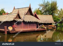 view floating market historical park ancient stock photo 79233892