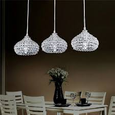 kitchen island lighting ideas chrome and crystal mini pendant
