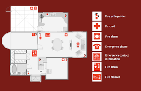 Free Restaurant Floor Plan by Fire Evacuation Plan Template Emergency Plan How To Create