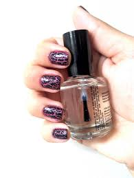 niki chennell crackle nail polish on top of pink glitter
