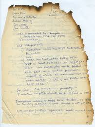 Paper With Writing 44 The Case Of The Burnt Document Committee Of 100 Papers 100