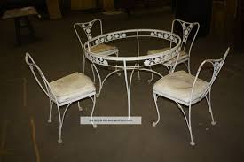 Cast Iron Patio Set Table Chairs Garden Furniture - vintage patio furniture set ornate wrought iron french country
