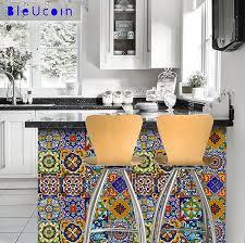 amazon com bleucoin mexican tile stickers 12 designs peel