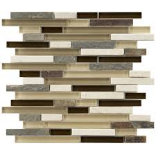 Tile Sheets For Kitchen Backsplash These Stone And Glass Mosaic Tiles Are Perfect For Your Bath