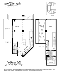 Penthouse Floor Plans 350 West Ash Floor Plan Penthouse
