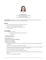 Example For Resume by Front Desk Clerk Resume Example Examples Of Resumes Job Resume