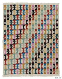 Multicolor Rug K0018663 Multicolor New Turkish Kilim Rug Kilim Rugs Overdyed