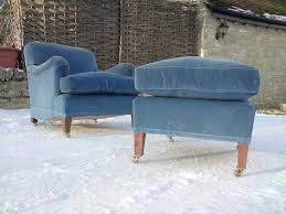 Comfortable Chair by Howard And Sons Comfortable Chair And Footstool At 1stdibs