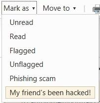 my friend's been hacked email spam security microsoft hotmail