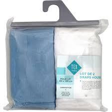 couverture coton bio draps housse coton bio 60x120 bleu tex baby tex baby le lot de 2