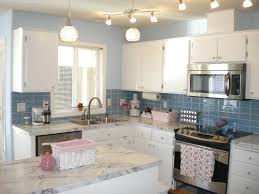 before after subway tile outlet thumb kitchen update with sky blue