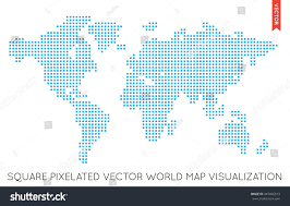 Diagram Of The World Map by Vector Flat World Map Infographic Map Stock Vector 443002513