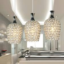Modern Pendant Lighting For Kitchen Island Dinggu Modern 3 Lights Crystal Pendant Lighting For Kitchen