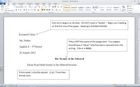 term paper header format