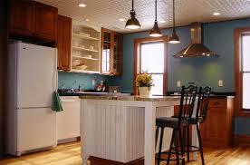 kitchen island sink vent solid light oak wood counter tops pendant