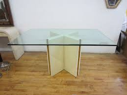 Glass Rectangle Dining Table Furniture Glamorous Table Base For Glass Top To Decorating Your