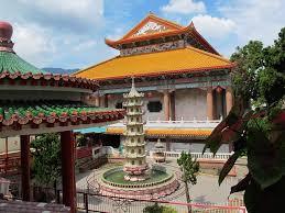 Pagoda at Kek Loc Si temple Buried Shiva