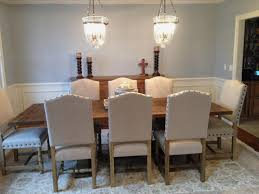 color upholstered dining chairs with nailheads cute upholstered