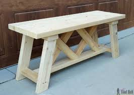 Building Plans For Picnic Table Bench by How To Build An Outdoor Bench With Free Plans Porch Woodworking