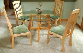 round maple dining table with glass montana fine furniture dining chairs cedar